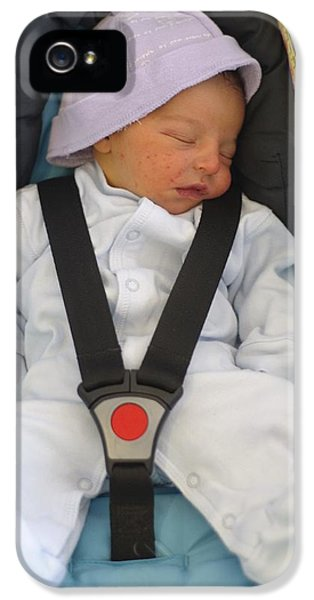 Baby In Car Seat IPhone 5 Case by Photostock-israel