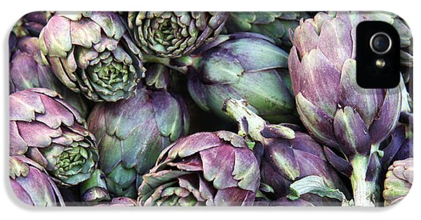 Background Of Artichokes IPhone 5 Case by Jane Rix
