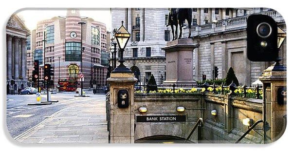 Bank Station Entrance In London IPhone 5 Case by Elena Elisseeva