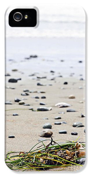 Beach Detail On Pacific Ocean Coast Of Canada IPhone 5 Case by Elena Elisseeva