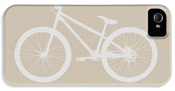 Bicycle Brown Poster IPhone 5 Case by Naxart Studio