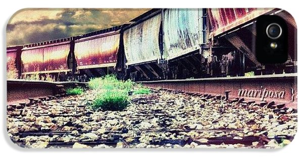 Edit iPhone 5 Case - Blue Sky Train by Mari Posa