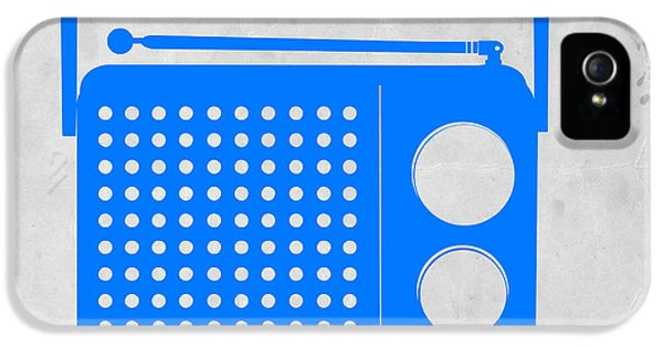 Blue Transistor Radio IPhone 5 / 5s Case by Naxart Studio