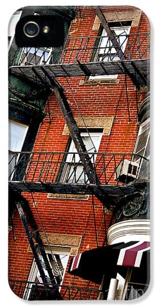Boston House Fragment IPhone 5 Case by Elena Elisseeva