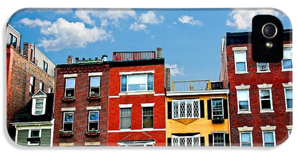 Boston Houses IPhone 5 Case by Elena Elisseeva