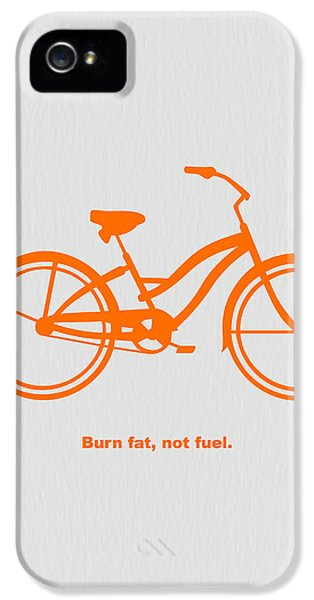Bicycle iPhone 5 Case - Burn Fat Not Fuel by Naxart Studio