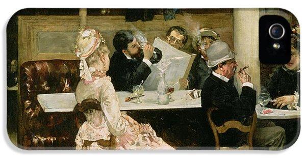 Cafe Scene In Paris IPhone 5 Case by Henri Gervex