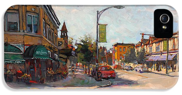 Caffe' Aroma In Elmwood Ave IPhone 5 Case by Ylli Haruni