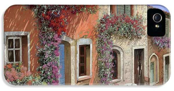 Caffe Sulla Discesa IPhone 5 Case by Guido Borelli