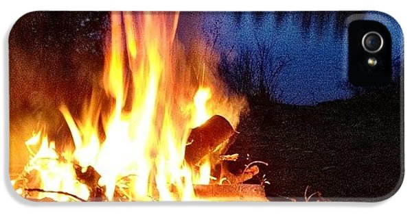 Campfire IPhone 5 Case by Christopher Campbell