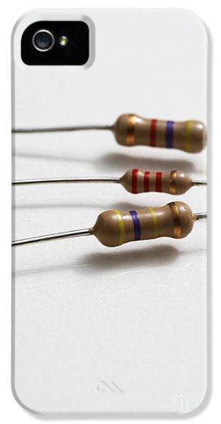 Carbon Film Resistors IPhone 5 Case by Photo Researchers, Inc.