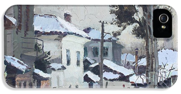 Castle Neighborhood Elbasan IPhone 5 Case by Ylli Haruni