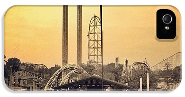 #cedarpoint #ohio #ohiogram #amazing IPhone 5 Case by Pete Michaud