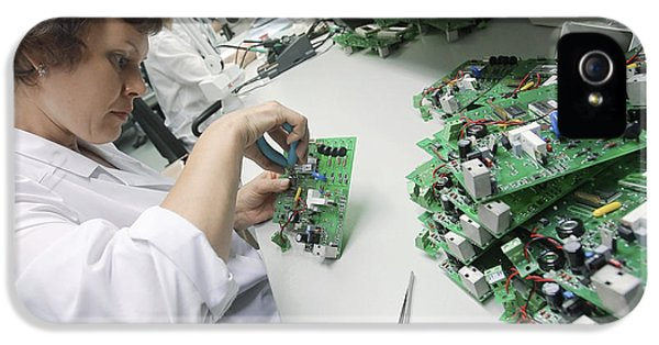 Circuit Board Assembly Work IPhone 5 Case by Ria Novosti