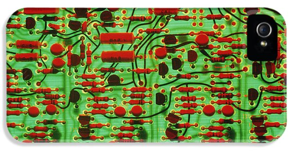 Circuit Board Showing Its Electronic Components IPhone 5 Case by Damien Lovegrove