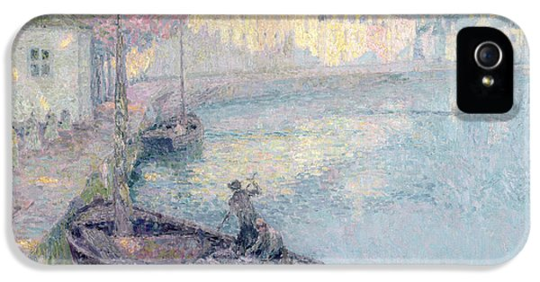 Clear Morning - Quimperle IPhone 5 Case by Henri Eugene Augustin Le Sidaner