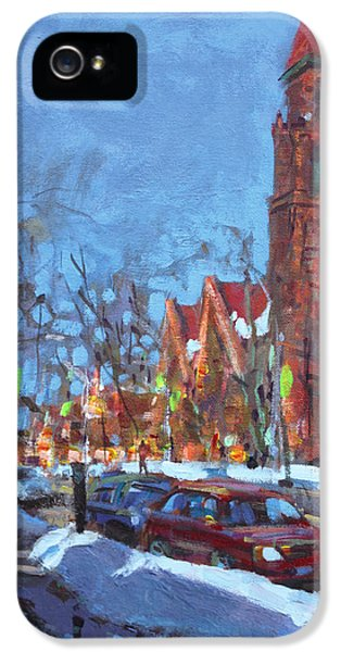 Cold Morning In Elmwood Ave  IPhone 5 Case by Ylli Haruni