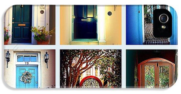 Collage Of Charleston Doors IPhone 5 Case by Susanne Van Hulst