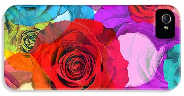 Colorful Floral Design  IPhone 5 Case by Setsiri Silapasuwanchai