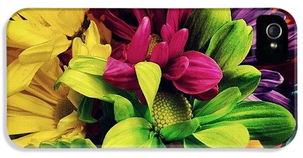 Colorful iPhone 5 Case - #colorful #flowers by Mandy Shupp