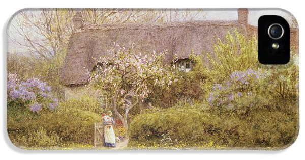 Cottage Freshwater Isle Of Wight IPhone 5 Case by Helen Allingham