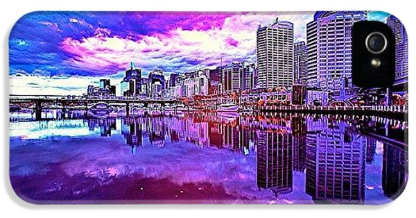 Cool iPhone 5 Case - Darling Harbour Is A Harbour Adjacent by Tommy Tjahjono