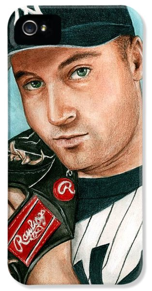 Derek Jeter  IPhone 5 Case by Bruce Lennon