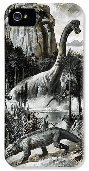 Dinosaurs IPhone 5 / 5s Case by Roger Payne