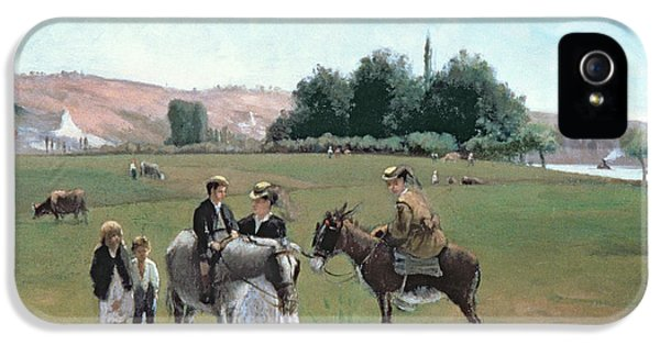 Donkey Ride IPhone 5 Case by Camille Pissarro