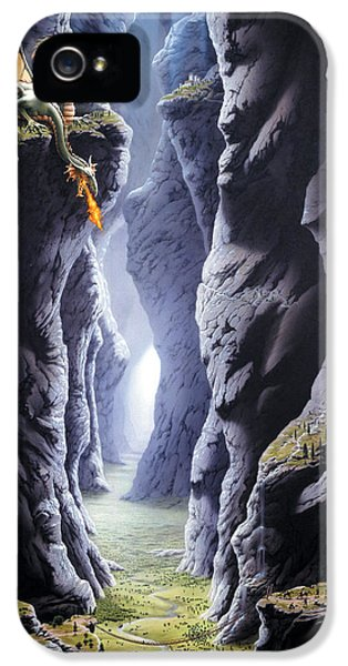 Dragons Pass IPhone 5 Case by The Dragon Chronicles - Steve Re