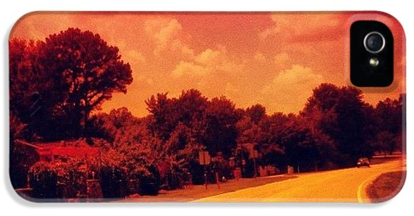 #driving #sky #clouds #road #summer IPhone 5 Case