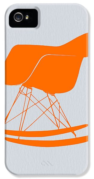 Eames Rocking Chair Orange IPhone 5 Case by Naxart Studio