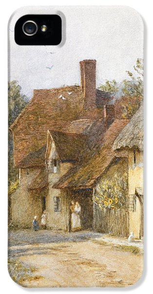 Town iPhone 5 Case - East Hagbourne Berkshire by Helen Allingham
