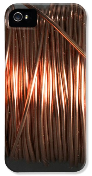 Enamel Coated Copper Wire IPhone 5 Case by Photo Researchers