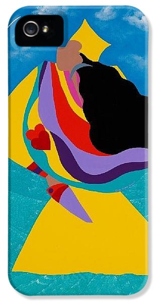 iPhone 5 Case - Erzulie Haitian Goddess Of Love by Synthia SAINT JAMES