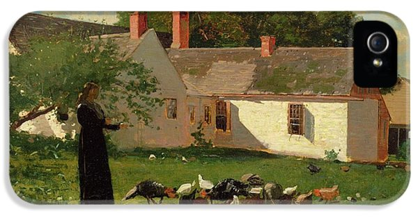Farmyard Scene IPhone 5 Case by Winslow Homer