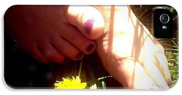 Bright iPhone 5 Case - Feet In Grass - Summer Meadow by Matthias Hauser