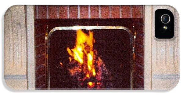 #fire #fireplace #classic #igaddict IPhone 5 Case by Abdelrahman Alawwad