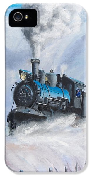 Train iPhone 5 Case - First Train Through by Christopher Jenkins