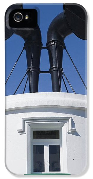 Fog Horns On Lighthouse IPhone 5 Case by Adrian Bicker