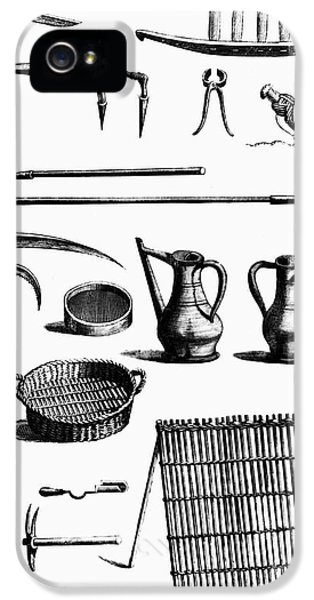 Garden iPhone 5 Case - Gardening Tools by Granger