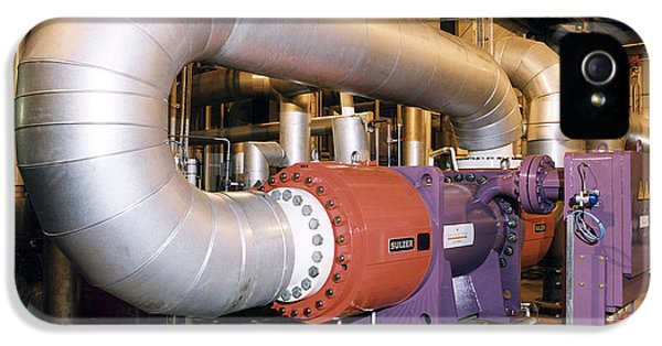Gas Compressor At An Oil Refinery IPhone 5 Case