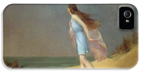 Girl On The Beach  IPhone 5 Case by Frank Richards