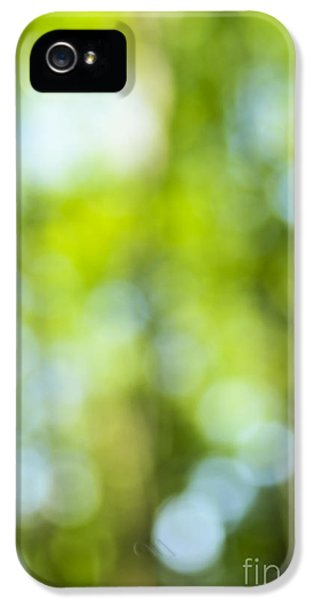 Green Forest And Blue Sky IPhone 5 Case by Elena Elisseeva