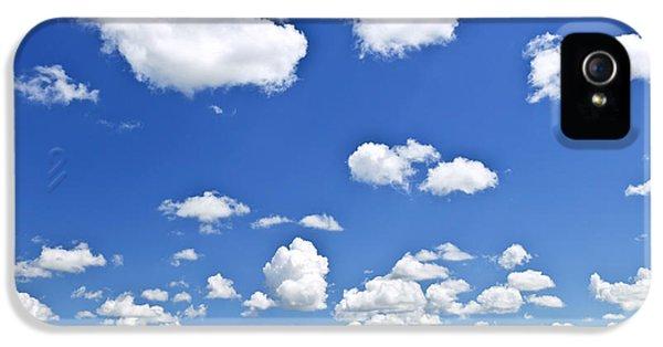 Green Rolling Hills Under Blue Sky IPhone 5 Case by Elena Elisseeva