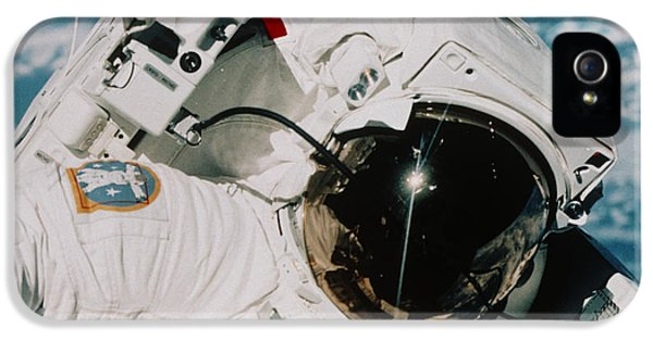 Helmet Of Astronaut Mccandless IPhone 5 Case by NASA / Science Source