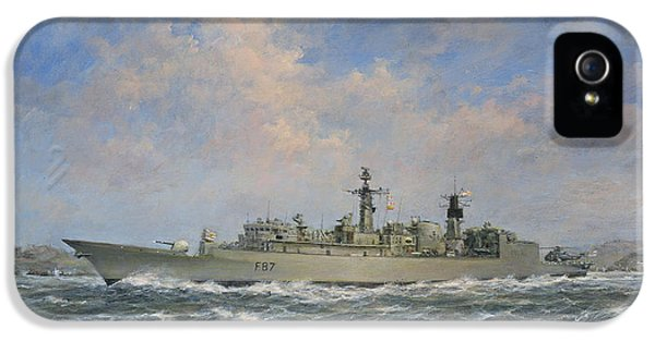 H.m.s. Chatham Type 22 - Batch 3 IPhone 5 Case by Richard Willis