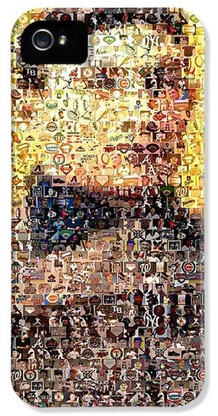 Honus Wagner Mosaic IPhone 5 Case by Paul Van Scott
