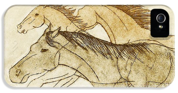IPhone 5 Case featuring the drawing Horse Sketch by Nareeta Martin