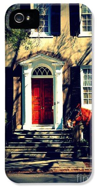 House Door 3 In Charleston Sc  IPhone 5 Case by Susanne Van Hulst